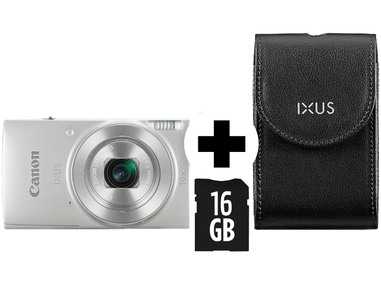 CANON Ixus 190 Kit (DCC1320+8GB) Digitalkamera Silber
