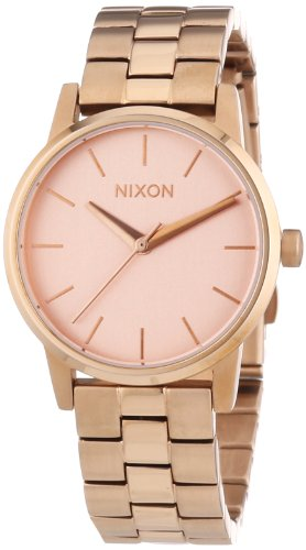 nixon-damen-armbanduhr-xs-small-kensington-all-rose-gold-analog-quarz