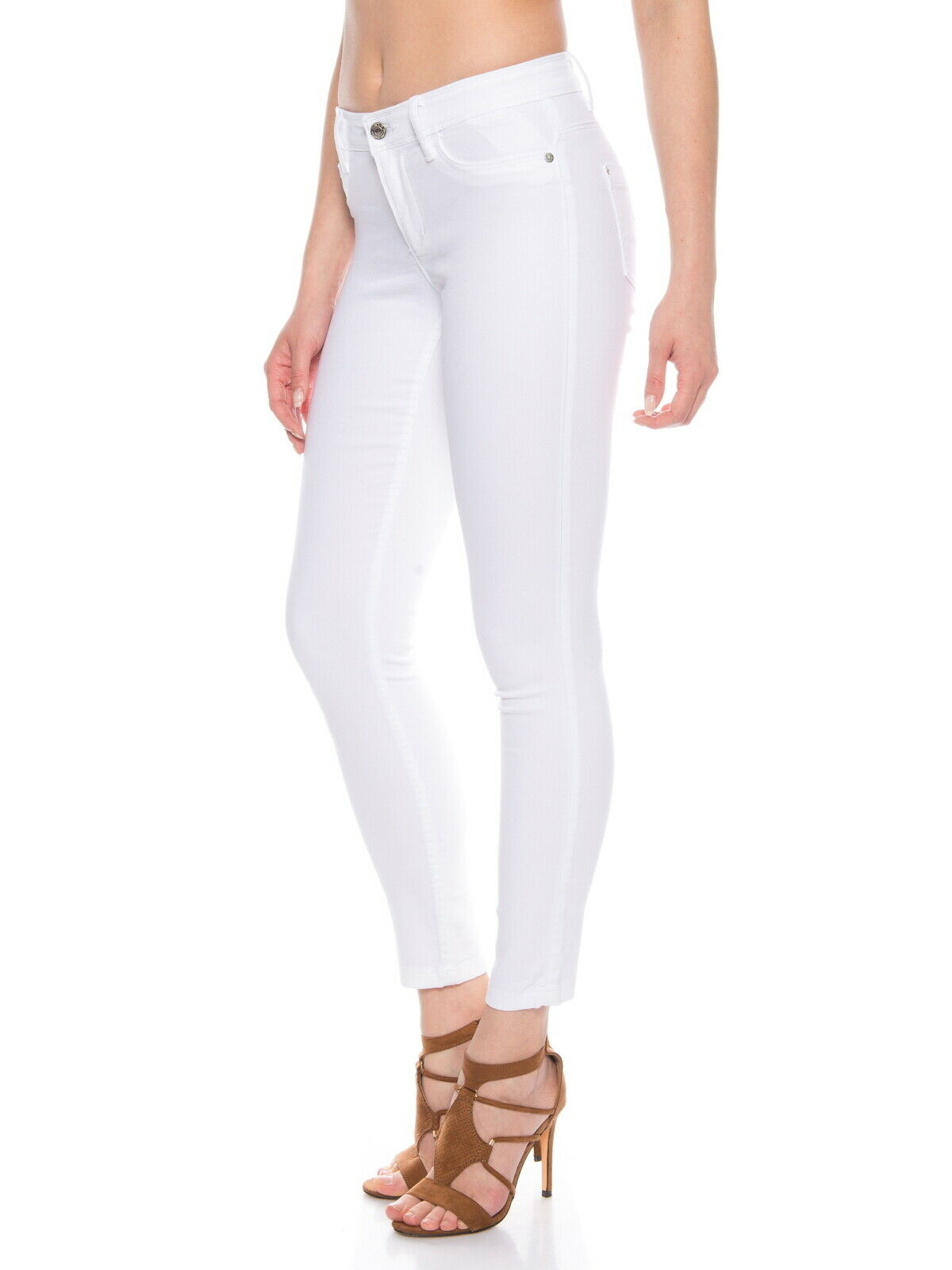 Only-Damen-Skinny-Jeans-Hose-mit-Stretch-in-weiss-Regulare
